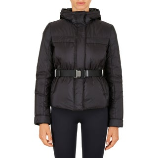 Prada Women's Black Belted Puffer Jacket