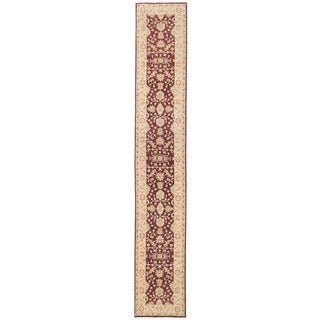 Herat Oriental Afghan Hand-knotted Vegetable Dye Oushak Wool Runner (2'6 x 15'3)