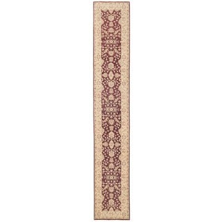 Herat Oriental Afghan Hand-knotted Vegetable Dye Oushak Wool Runner (2'5 x 15'4)