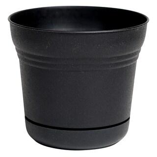 Bloem Saturn 7-inch Black Planter