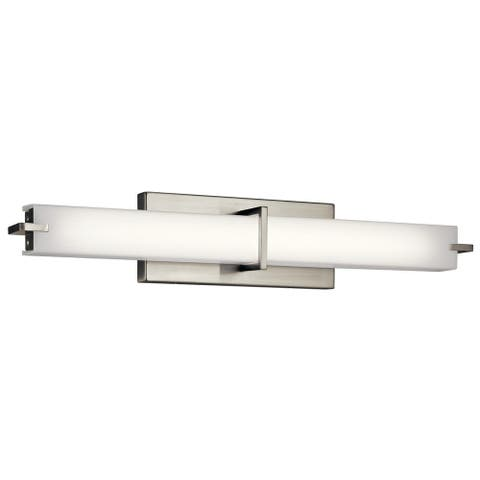 Kichler Lighting Transitional 24-inch Brushed Nickel LED Linear Bath/Vanity Light
