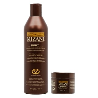 Mizani Fiberfyl Fiber 16.9-ounce Strengthening Treatment, 2-ounce Essential Strengthening Fix Primer