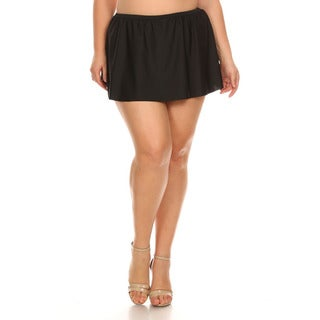 Dippin' Daisy's Women's Black Nylon Plus Size Skirt Swimsuit Bottoms