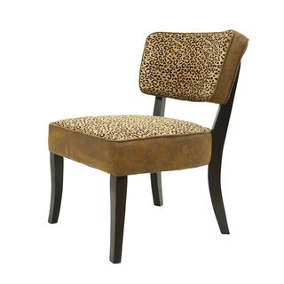 Best Master Furniture Leopard Accent Chair