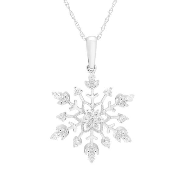 Boston bay diamonds 10k white gold 14ct tdw diamond snowflake boston bay diamonds 10k white gold 14ct tdw diamond snowflake pendant w chain aloadofball Images