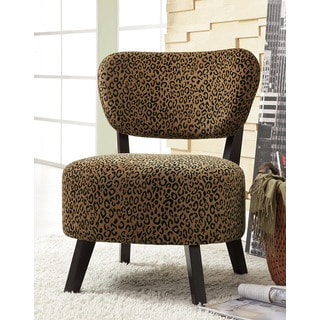 Best Master Furniture Leopard Print Accent Chair