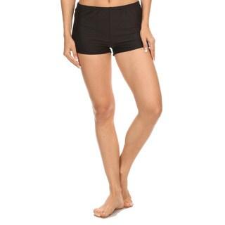 Dippin' Daisy's Black Nylon/Spandex Boyshort-style Swimsuit Bottoms