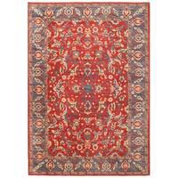 Herat Oriental Afghan Hand-knotted Vegetable Dye Oushak Wool Rug (12'9 x 18'5)