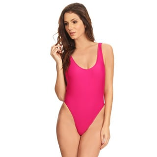 Dippin' Daisy's Women's Fuchsia Nylon-blend V-Cleavage High-Cut One Piece