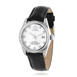 Luxurman Tribeca Stainless Steel Women's Diamond Watch