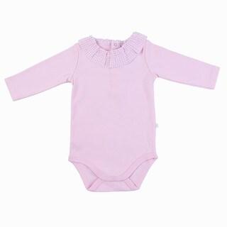 Briobebe Pink Cotton Ruffle Bodysuit
