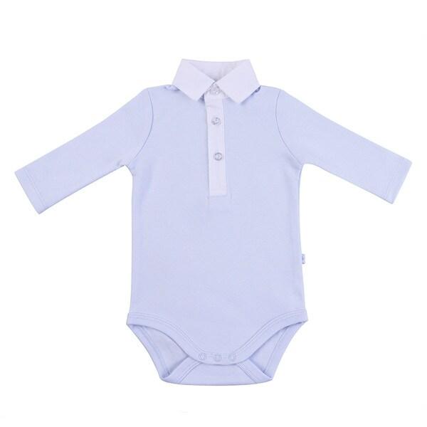 Briobebe Blue Button-down Bodysuit