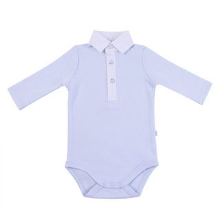 Briobebe Blue Button-down Bodysuit
