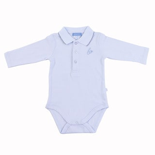Briobebe Blue Pique Knit Bodysuit