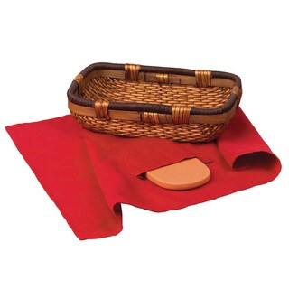 Italian Origins Bread Basket with Warming Stone