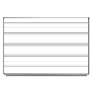Luxor WB7248M 72 x48 Wall-Mount Music/Whiteboard