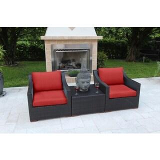 Anne 3-piece Deep Seating Sofa Set - Olefin Fabric