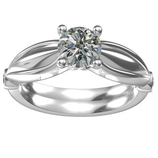 Classic Sterling Silver 1ct TGW Cubic Zirconia Engagement Ring
