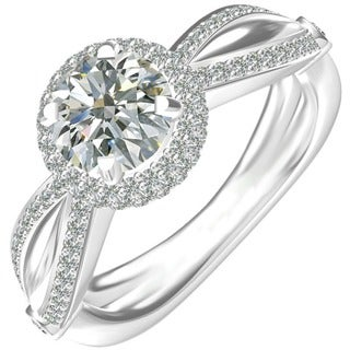 Sterling Silver Cubic Zirconia Classic Engagement Ring