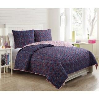 VCNY Home Blossom 3-piece Quilt Set