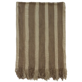Camel Beige Acrylic Knit Throw