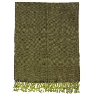 Lanka Olive Cotton Throw
