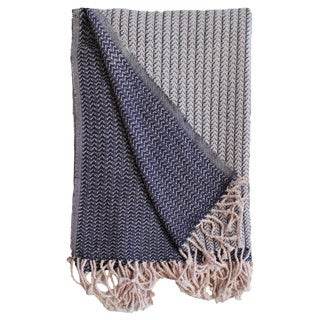 New Navy Cotton Throw