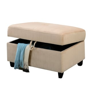 Acme Furniture Belville Microfiber Storage Ottoman