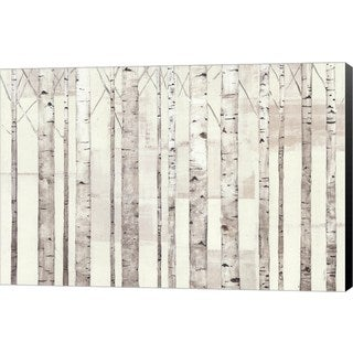 Avery Tillmon 'Birch Trees on White' Canvas Art