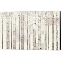 Avery Tillmon 'Birch Trees on White' Canvas Art