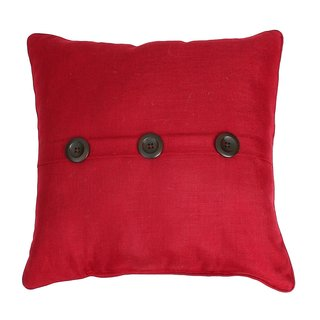 Thro by Marlo Chili Pepper Ashley Red Button Accent Pillow