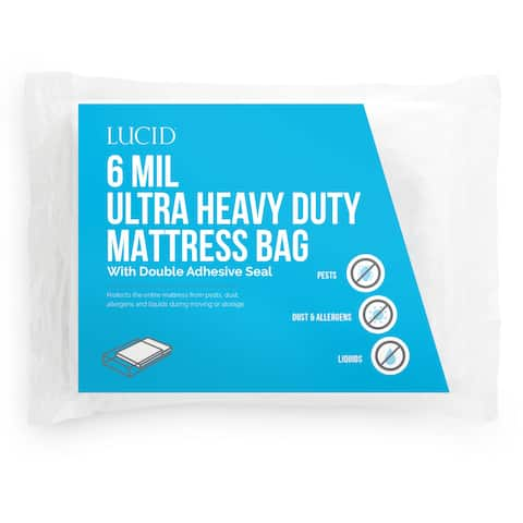 LUCID Ultra Heavy Duty 6 Mil Mattress Bag