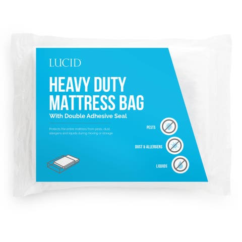 LUCID Comfort Collection Heavy Duty Moving and Storage Mattress Bag