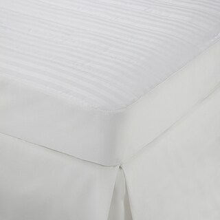 Martex Damask Striped Mattress Pad Topper