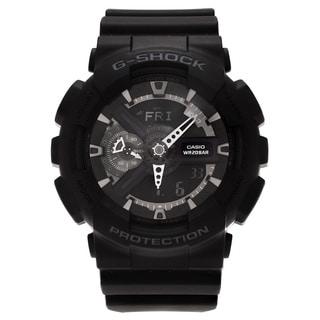 Casio Men's GA110-1B 'G-Shock' Black Analog Digital Dial Strap Watch