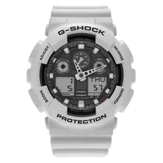 Casio Men's GA100LG-8A 'G-Shock' Gray Analog Digital Dial Resin Strap Watch