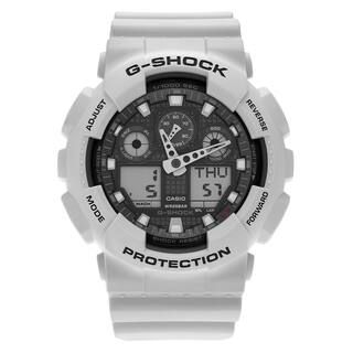 Casio Men's GA100LG-8A 'G-Shock' Gray Analog Digital Dial Resin Strap Watch|https://ak1.ostkcdn.com/images/products/14269988/P20856549.jpg?impolicy=medium
