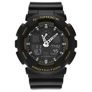 Casio Men's GA100L-1A 'G-Shock' Military Black Analog Digital Dial Resin Strap Watch