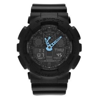 Casio Men's GA100C-8A 'G-Shock' Gray Analog Digital Dial Resin Strap Watch