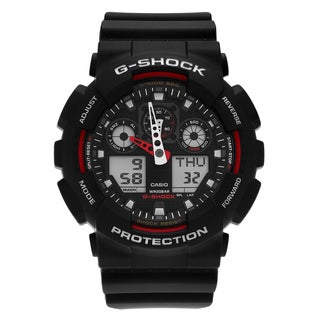 Casio Men's GA100-1A4 'G-Shock' Black Analog Digital Dial Resin Strap Watch