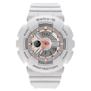Casio Women's BA110GA-8A 'Baby-G' Light Gray Analog Digital Dial Resin Strap Watch