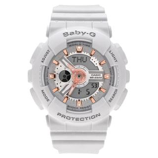 Casio Women's BA110GA-8A 'Baby-G' Light Gray Analog Digital Dial Resin Strap Watch