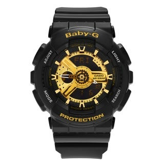 Casio Women's BA110-1A 'Baby-G' Black Analog Digital Dial Resin Strap Watch