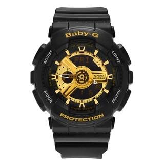 Casio Women's BA110-1A 'Baby-G' Black Analog Digital Dial Resin Strap Watch