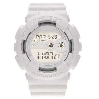 Casio Men's 'G-Shock' GD100WW-7 White Digital Dial Watch