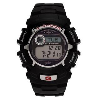 Casio Men's 'G-Shock' G2310R-1 Black Solar Digital Dial Resin Strap Watch