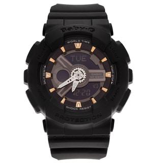 Casio Women's BA110GA-1A 'Baby-G' Black Analog Digital Dial Resin Strap Watch (Option: Black)