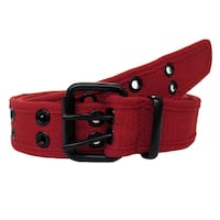 Canvas Double Hole Stylish Grommets Red Belt