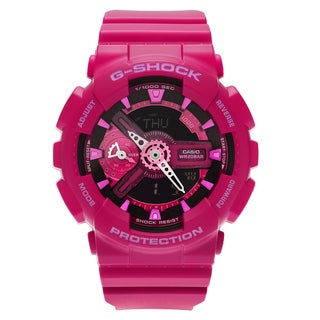 Casio Women's GMAS110MP-4A3 'G-Shock' Pink Analog Digital Dial Resin Strap Watch