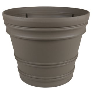 Bloem Rolled Rim 22-inch Peppercorn Rim Planter